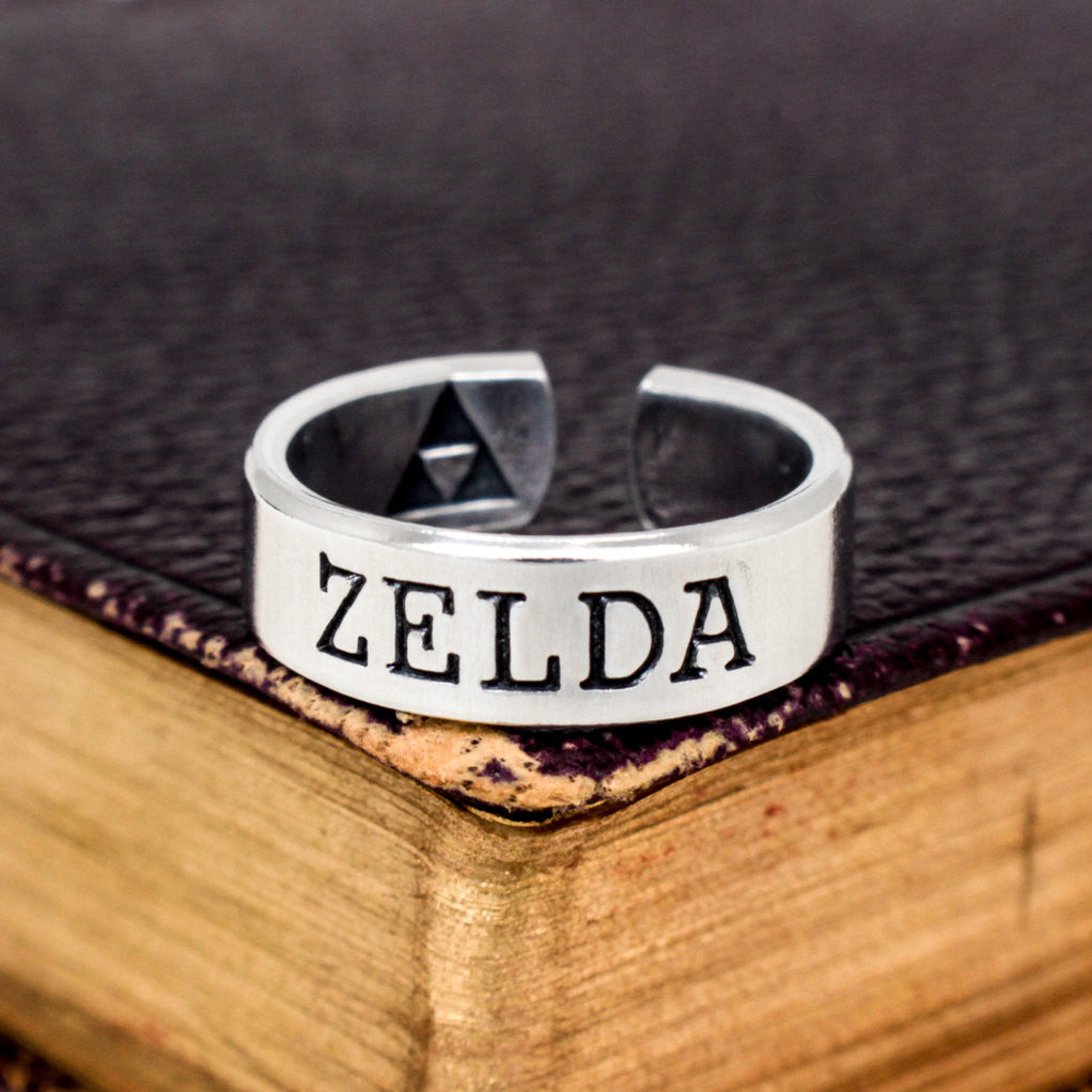 Zelda Ring - Triforce - Link - Aluminum Ring