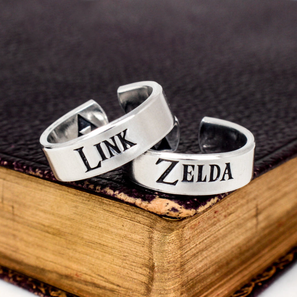Link and Zelda Ring Set - Triforce - The Legend of Zelda - Couples Accessories - It Came From the Internet