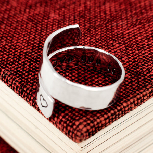 I Love You to the Moon and Back - Friendship Ring - Wrap Ring - It Came From the Internet