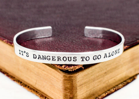 It's Dangerous To Go Alone - Legend of Zelda - Triforce - Aluminum Bracelet - It Came From the Internet