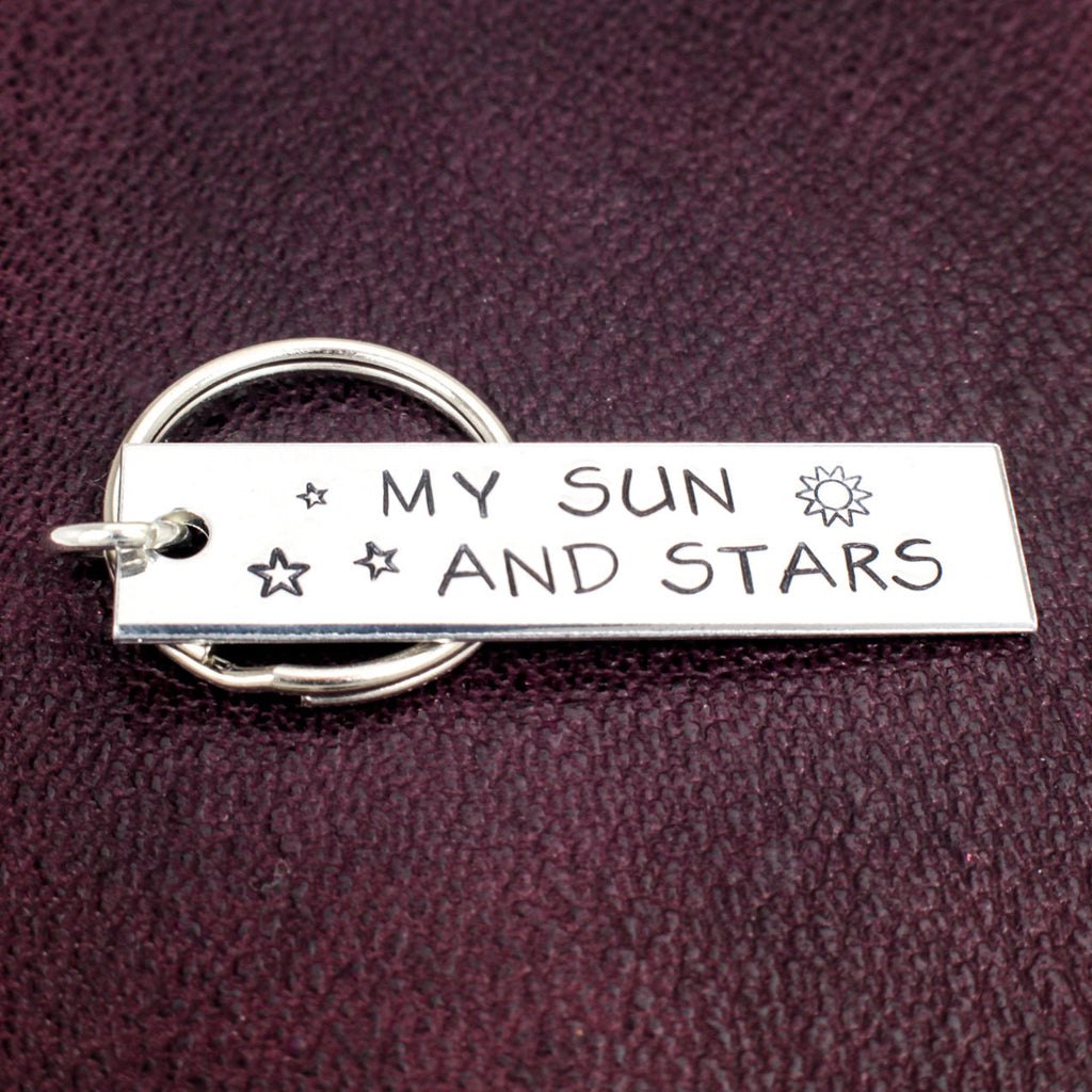 My Sun and Stars - Aluminum Key Chain - It Came From the Internet