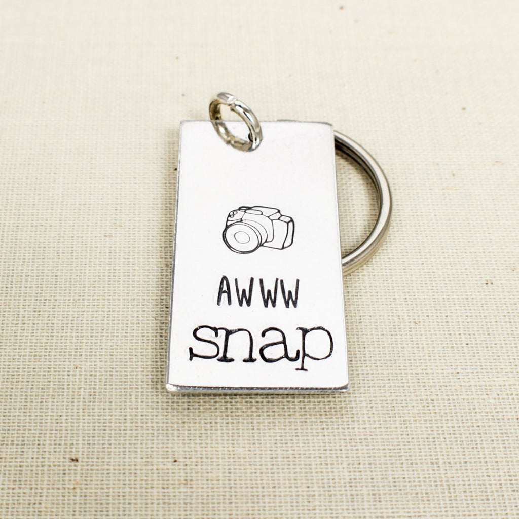 Aw Snap - Photography - Camera - Aluminum Key Chain - It Came From the Internet