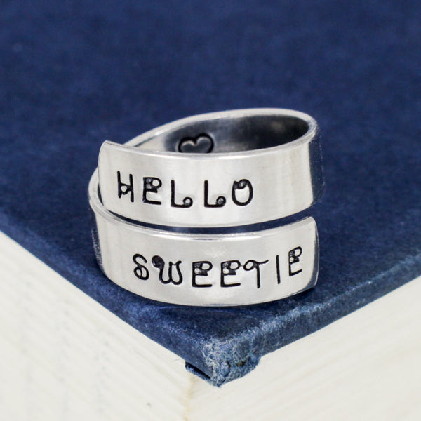 Hello Sweetie - Doctor Who - Tardis -  Wrap Ring - It Came From the Internet