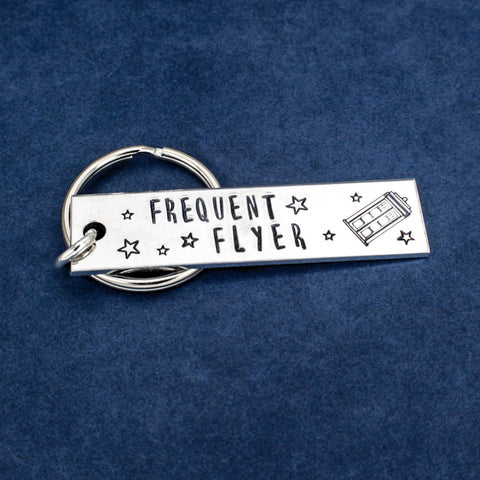 Doctor Who - Frequent Flyer - Tardis - Aluminum Key Chain - It Came From the Internet