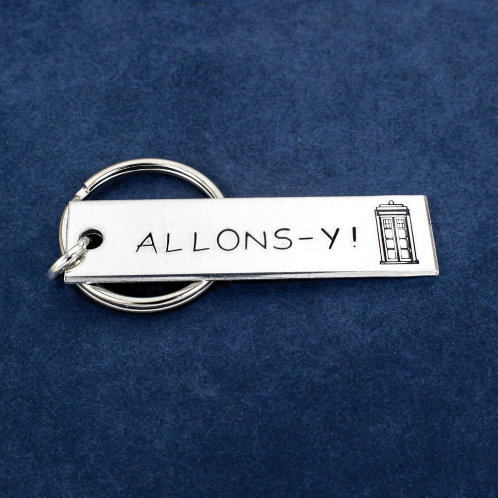Doctor Who - Allons-y - Tardis - Aluminum Key Chain - It Came From the Internet