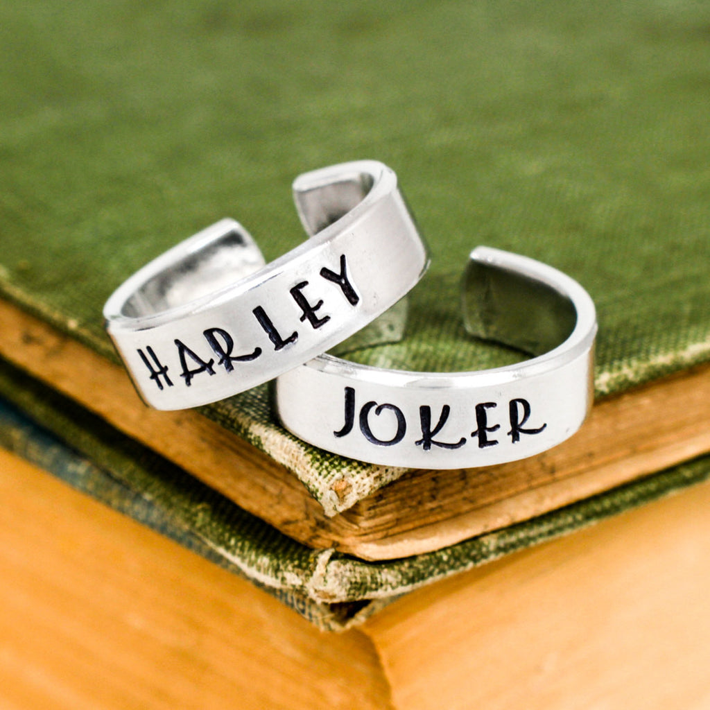 Joker and Harley Ring Set - Suicide Squad - Couples Ring Set Style - It Came From the Internet