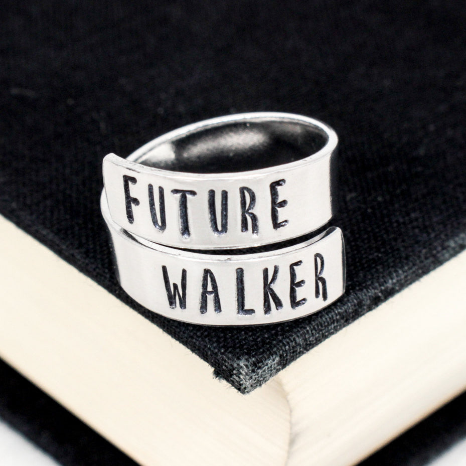Future Walker Ring - The Walking Dead - Zombies - Adjustable Aluminum Wrap Ring - It Came From the Internet