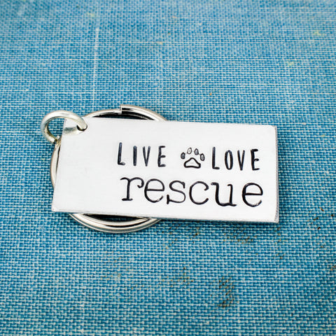 Live Love Rescue - Animal Rescue - Dog Rescue - Cat Rescue - Aluminum Key Chain - It Came From the Internet