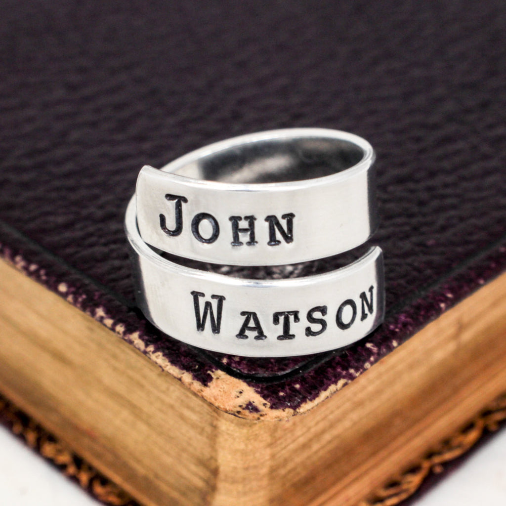 John Watson - Sherlock - Adjustable Aluminum Wrap Ring - It Came From the Internet