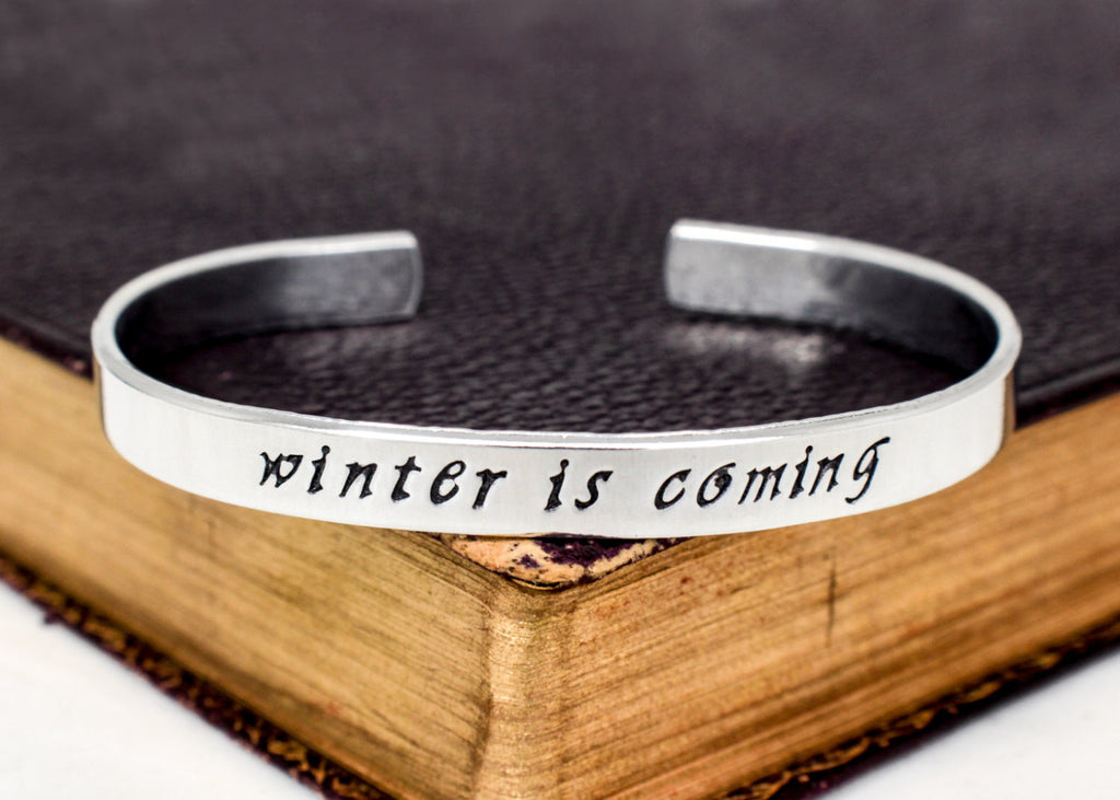 Winter is Coming - Game of Thrones - Snowflake - Aluminum Bracelet