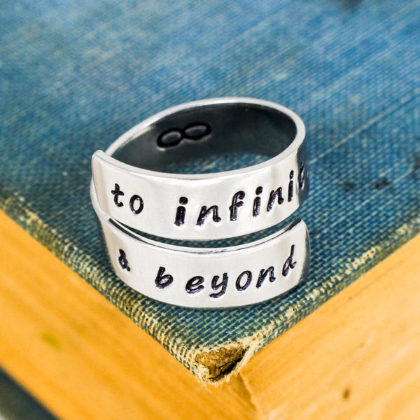 To Infinity and Beyond Ring - Adjustable Aluminum Wrap Ring