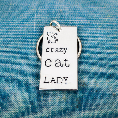 Crazy Cat Lady - Cats - Pets - Aluminum Key Chain - It Came From the Internet