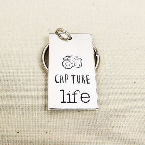Capture LIfe Key Chain - Photography - Photographer Gift - Aluminum Key Chain - It Came From the Internet