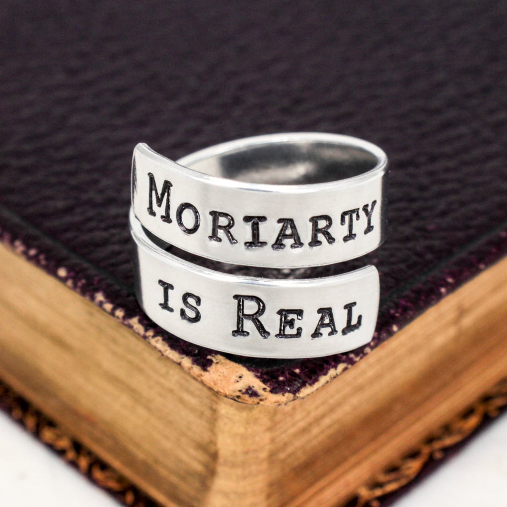 Moriarty Is Real - Sherlock - Adjustable Aluminum Wrap Ring - It Came From the Internet