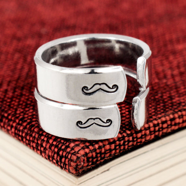 Mario and Luigi - Classic Gaming - Mustache - Friendship Ring Set - It Came From the Internet