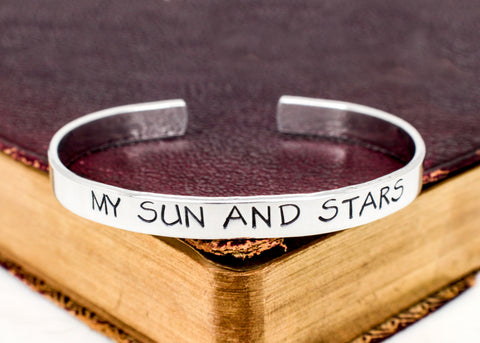 My Sun and Stars - Game of Thrones - Star - Moon - Aluminum Bracelet - It Came From the Internet