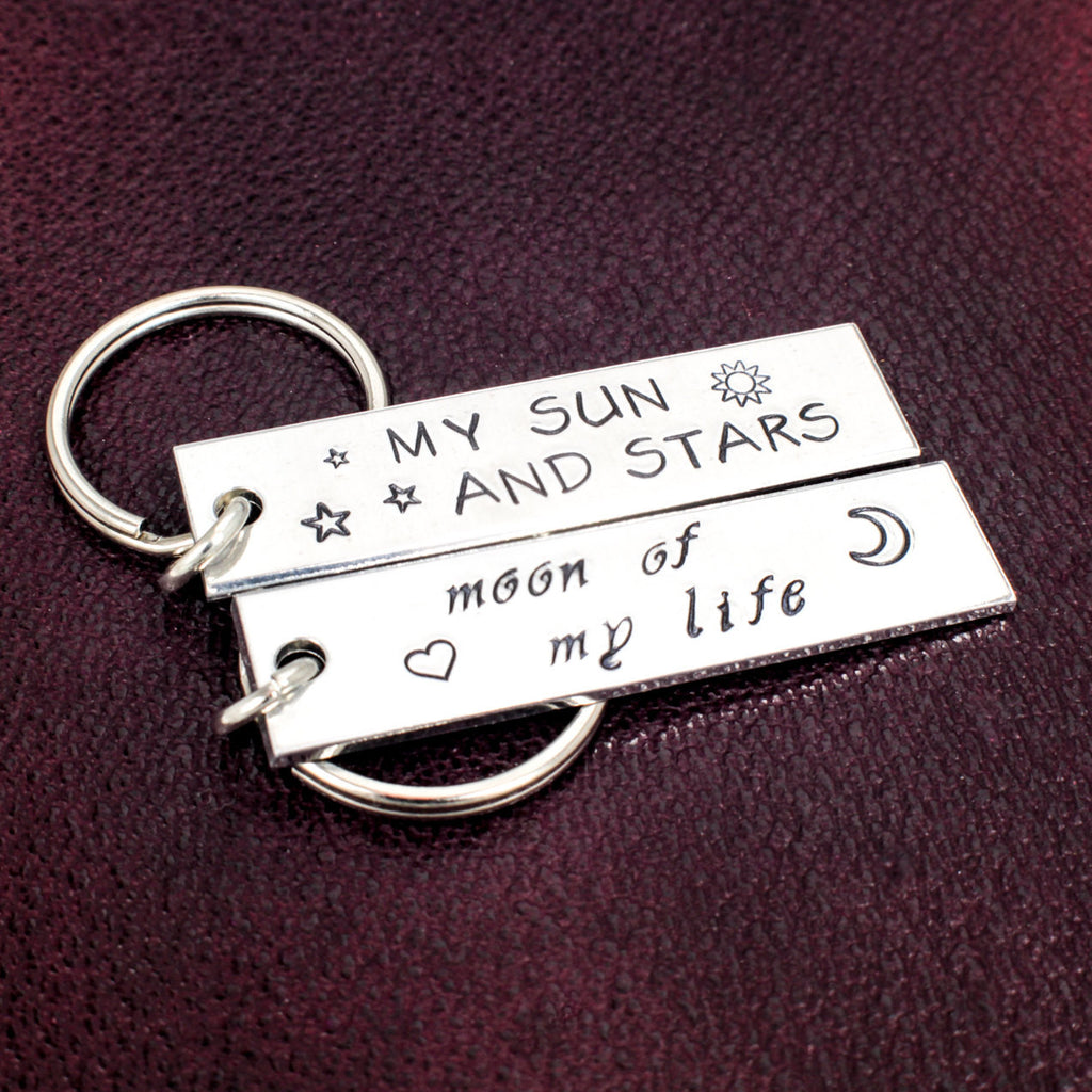 My Sun and Stars - Moon of My Life - Game of Thrones - Aluminum Key Chain Set - It Came From the Internet