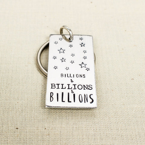 Billions of Stars - Cosmos - Carl Sagan - Aluminum Key Chain - It Came From the Internet