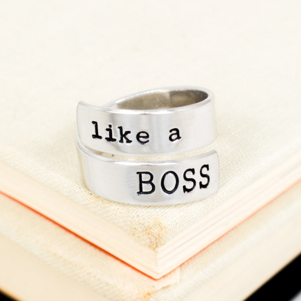 Like A Boss - Geekery - Adjustable Aluminum Wrap Ring - It Came From the Internet