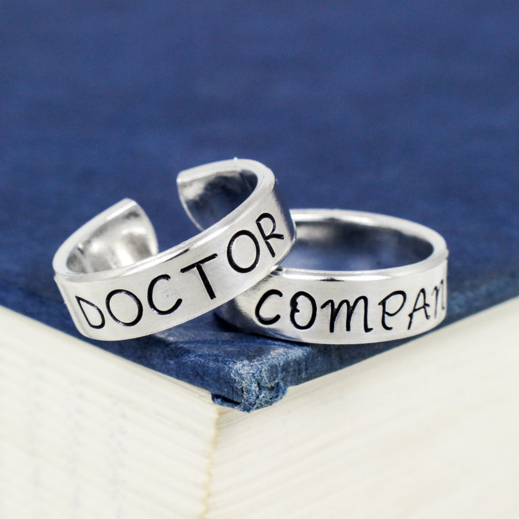 Doctor Who and Companion - Couples - Best Friends Ring Set - It Came From the Internet