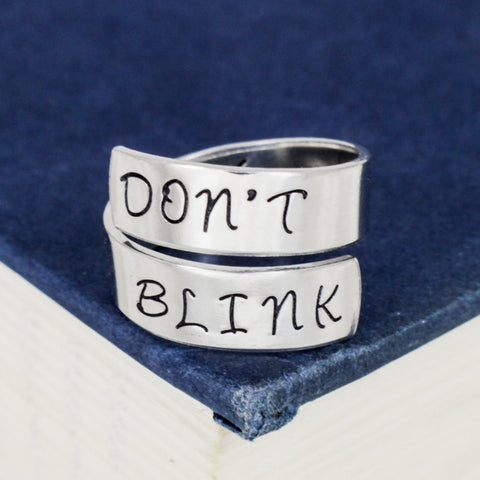 Don't Blink - Doctor Who - Adjustable Aluminum Wrap Ring B - It Came From the Internet
