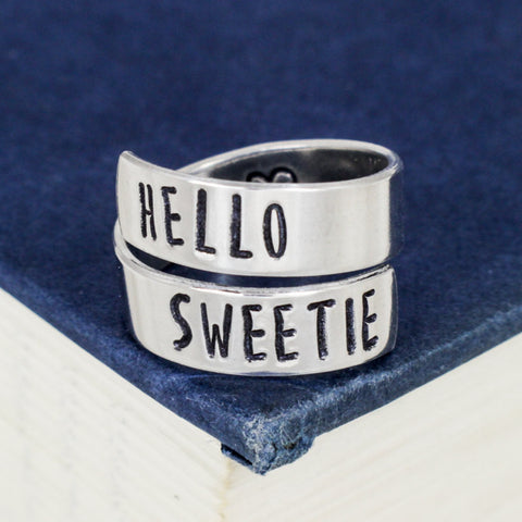 Hello Sweetie - Doctor Who - Heart -  Wrap Ring - It Came From the Internet