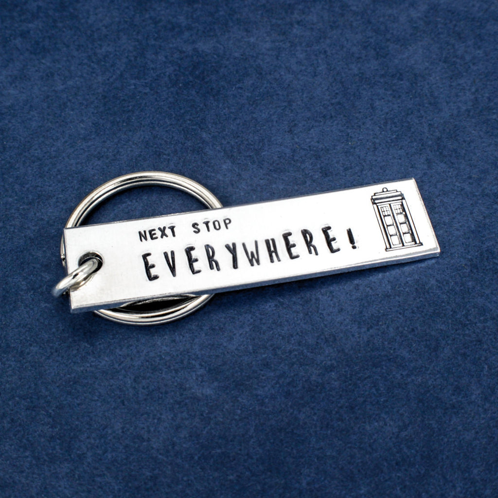 Doctor Who - Tardis - Next Stop Everywhere - Aluminum Key Chain - It Came From the Internet