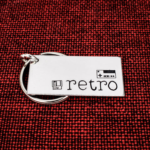 Retro Gamer Keychain - Nintendo - Classic Video Games - Game Controller - Aluminum Key Chain - It Came From the Internet