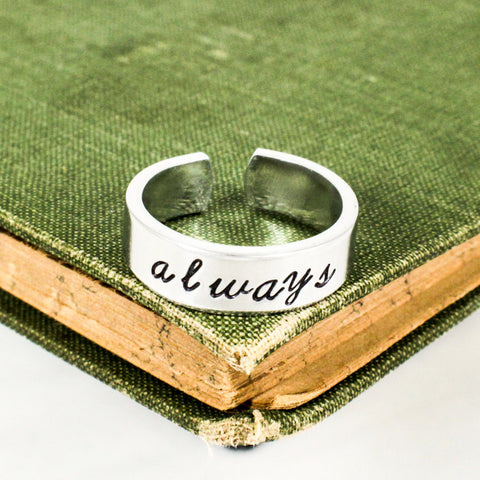 Always Ring - Promise Rings - Adjustable Aluminum Cuff Ring - It Came From the Internet