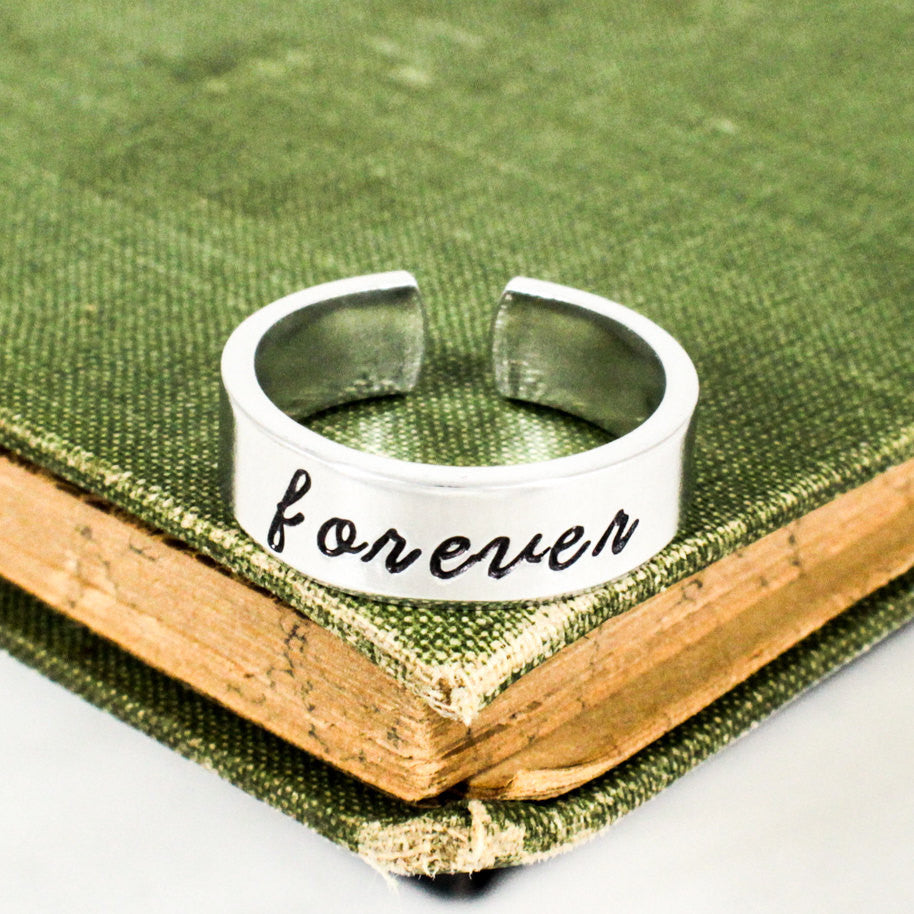 Forever Ring - Promise Rings - Adjustable Aluminum Cuff Ring - It Came From the Internet