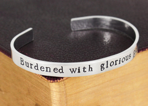 Burdened with Glorious Purpose - Loki - Superheroes - Aluminum Bracelet - It Came From the Internet
