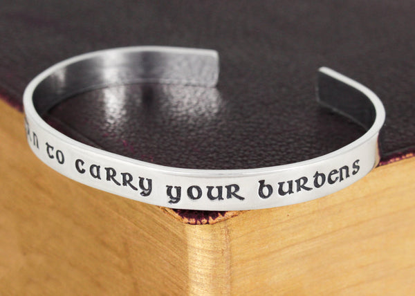 I'm Sworn to Carry Your Burdens -  Video Games - Aluminum Bracelet - It Came From the Internet