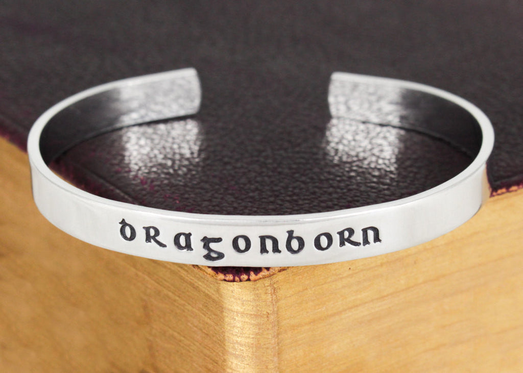 Dragonborn - Skyrim - Dragons - Video Games - Aluminum Bracelet - It Came From the Internet