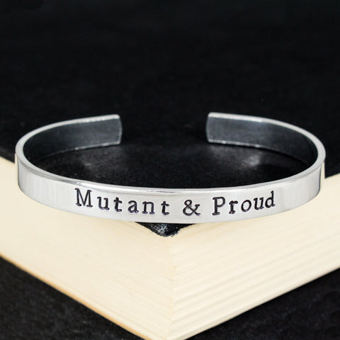 Mutant & Proud - Superheroes - X-Men - Aluminum Bracelet - It Came From the Internet