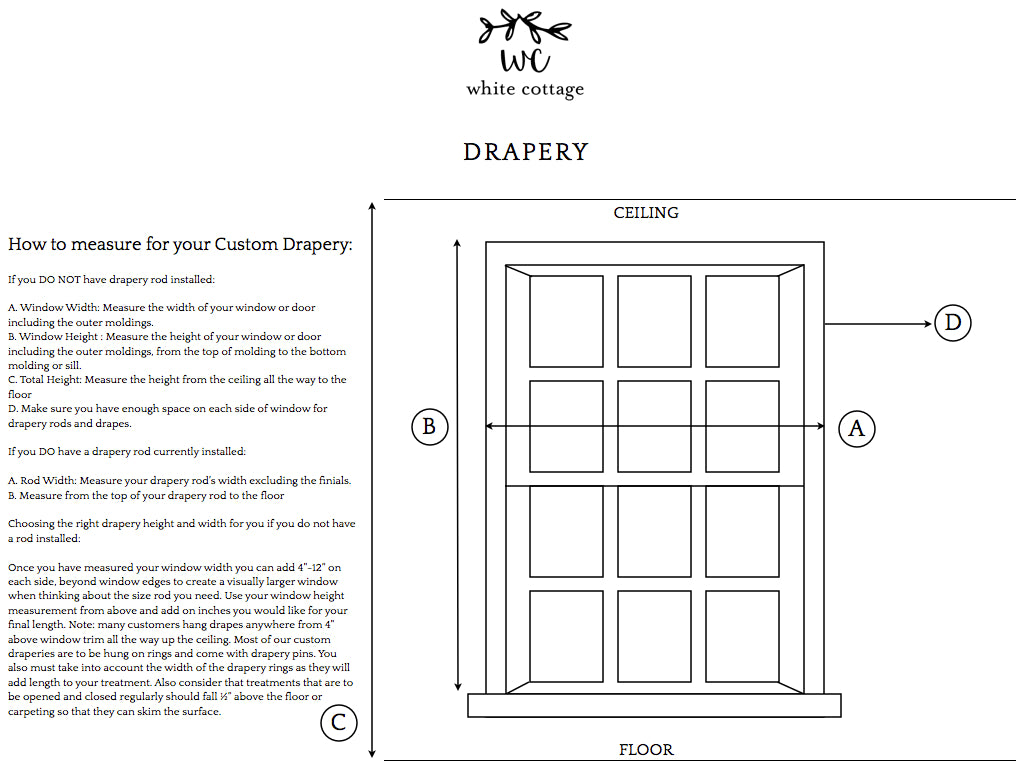 how to measure for drapery