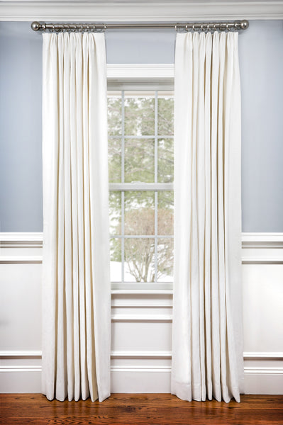 Custom Drapery Panel- Classic Off White Glynn Linen