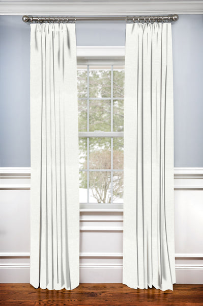Custom Drapery Panel- Irish Linen White