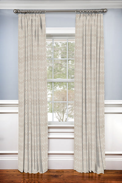 Custom Drapery Panel- Architect Coral Linen