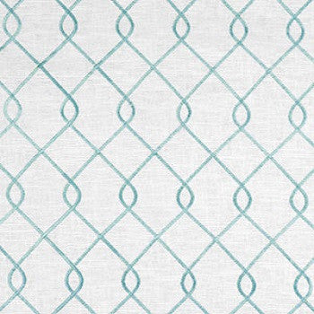 Custom Drapery Panel- Rico Embroidered Aqua