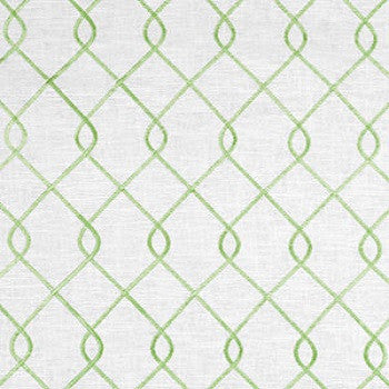 Hidden Back tab Drapery Panel- Rico Embroidered Green