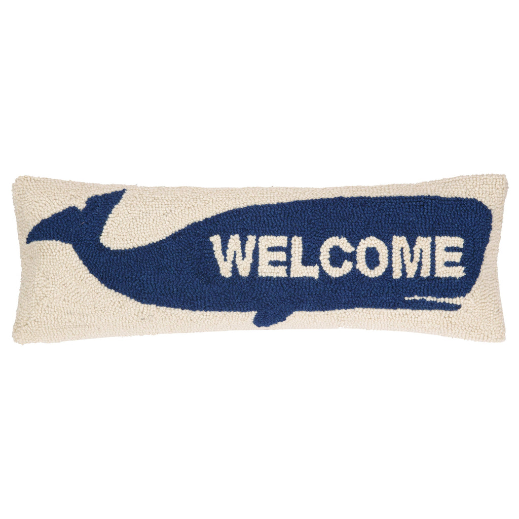 Welcome Whale Hook Pillow