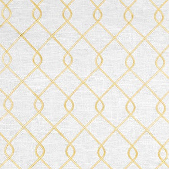 Custom Drapery Panel- Rico Embroidered Yellow