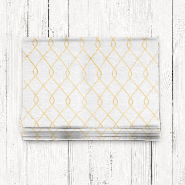 Custom Classic Roman Shade Valance- Rico Embroidered Yellow