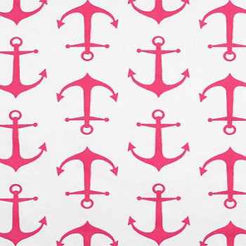 Custom Pillow Cover-  Anchors Away Pink