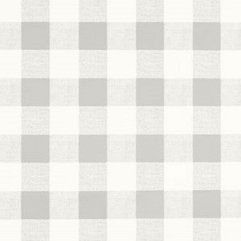 Hidden Back tab Drapery Panel- French Gray Check