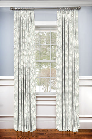 Custom Drapery Panel- Monroe Medallion