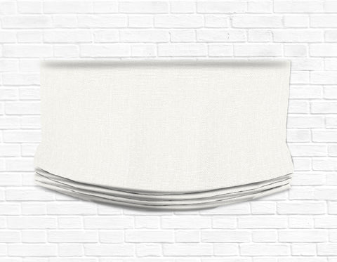 Custom Relaxed Roman Shade Valance- Classic off white Glynn Linen