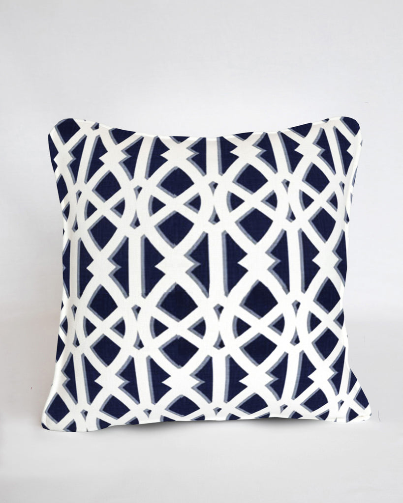 Custom Pillow Cover- Elton Navy