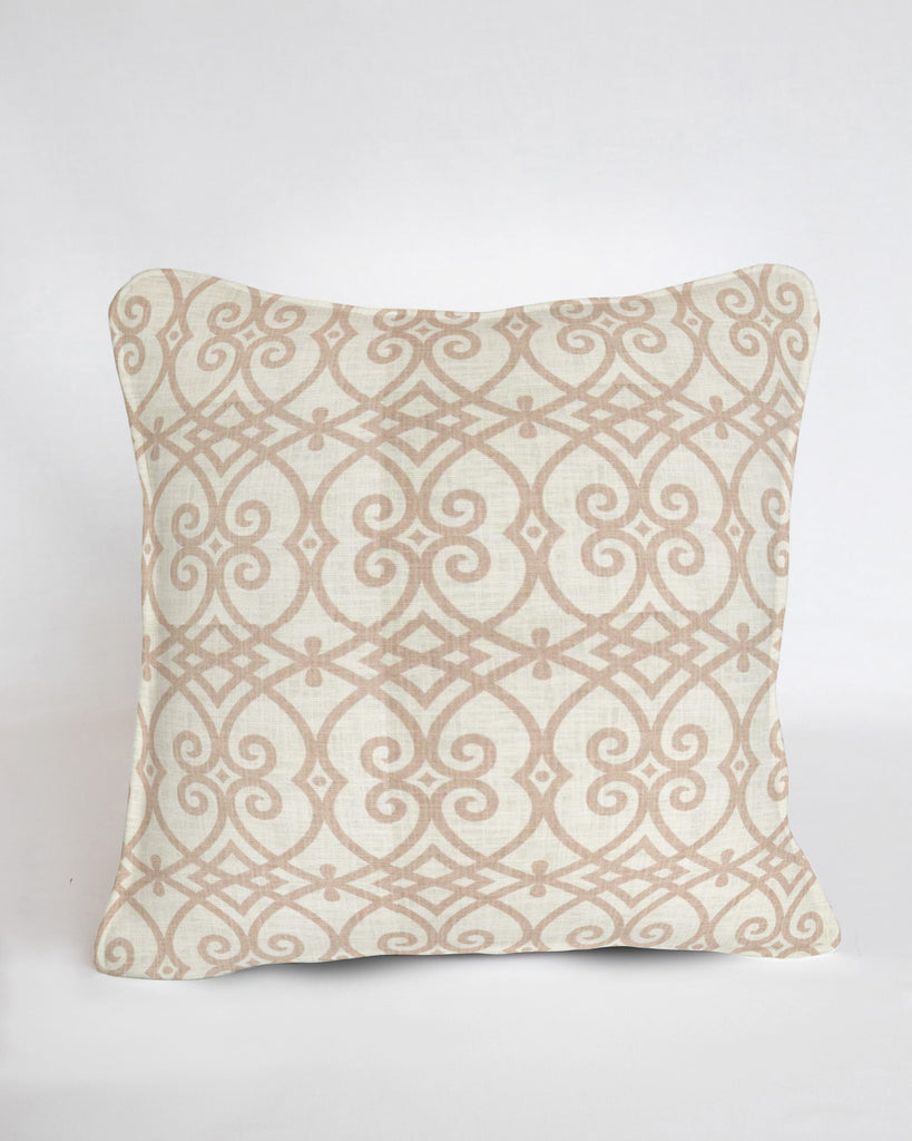 Custom Pillow Cover-Architect Coral Linen