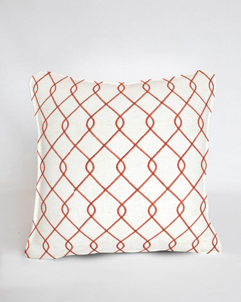 Custom Pillow Cover-Rico Embroidered Coral